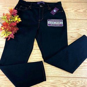 Gloria Vanderbilt Womens Jeans Alexandra Skinny 12